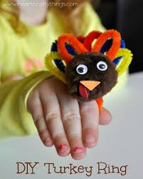 diy turkey ring for kids thanksgiving ring and craft