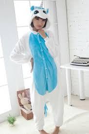 blue jumpsuit costume blue unicorn flannel pajamas jumpsuit costume