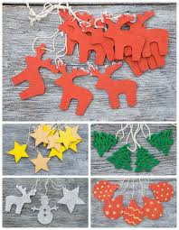 red christmas reindeer ornament stocking stuffers handpainted red