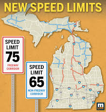 Michigan Area Code Map See Which 600 Miles Of Michigan Freeways Will Go To 75 Mph Speed
