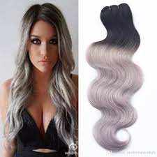 can ypu safely bodywave grey hair new 7a human virgin hair ombre brazilian body wave grey hair weave
