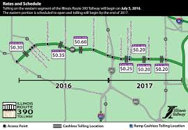 Chicago Toll Roads Map by Route 390 Tolling Plan Itasca Il Official Website