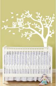 Nursery Owl Wall Decals Personalized Tree And Owl Nursery Wall Decal For Baby In By Slaps