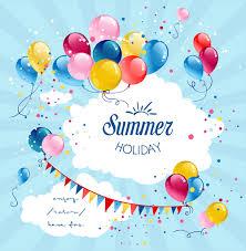 colored balloon summer birthday cards vector 03 welovesolo