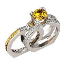 citrine engagement rings november crown citrine ring birthstone deals