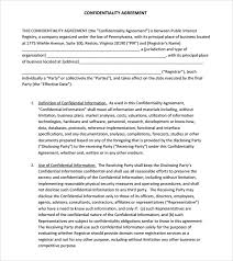 sample confidentiality agreement 6 documents in pdf
