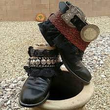 s justin boots size 12 77 justin shoes justin upcycled boho belted boots size 12