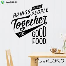 nothing brings people together like good food wall decal sticker nothing brings people together like good food wall decal sticker for kitchen room tile wall art