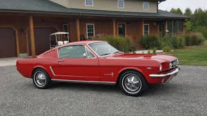 Mustang Fastback Black 1965 Ford Mustang Fastback 2 2 V8 Manual Transmission Red Black