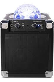 ion portable speaker system with party lights amazon com ion audio party power portable bluetooth speaker