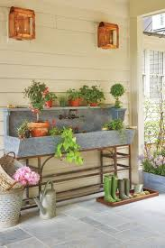 ideas potting bench with sink planter tables outdoor outdoor