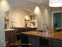 wood top kitchen island custom walnut wood countertop in boston massachusetts