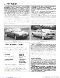 citroen bx hatchback 1990 2 g workshop manual