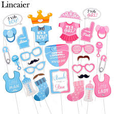 baby shower gender reveal lincaier 30 pieces baby shower photo booth props gender reveal
