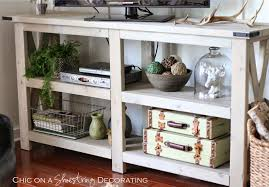 Living Room Corner Decor by Chic On A Shoestring Decorating My Farmhouse Chic Living Room Reveal