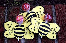 Lollipop Party Favors Personalized Bumble Bee Lollipop Party Favors Printable Or