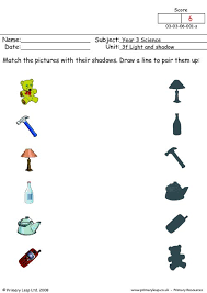 light and shadows lesson plans matching shadows 1 primaryleap co uk