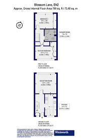 floor plan area calculator 2 bedroom property for sale in blossom lane enfield en2 290 000