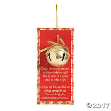 of the jingle bell ornaments with card