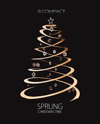spiral trees happy holidays