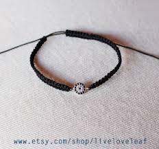 black thread bracelet images Black thread macrame evil eye bracelet sterling sterlingsilver jpg