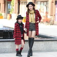 aliexpress buy fashion plaid coats family clothing