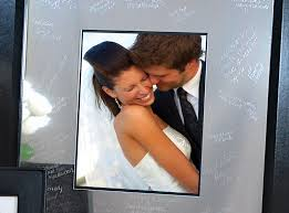 wedding autograph frame wedding guest book alternative the best wedding by