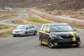 sienna toyota u0027s track honed sienna r minivan eats the chevy camaro ss for