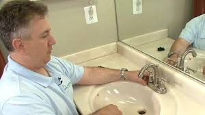 How To Change Bathroom Faucet by Replacing A Bathroom Faucet U2013 Monkeysee Videos