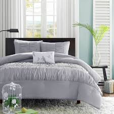Ruffle Bed Set Mizone Mirimar Grey Ruffle Comforter Set Full Queen