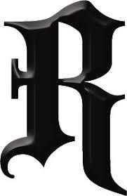 gothic letter r tattoo robin identity 35 illustration