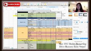 Dave Ramsey Budget Spreadsheet Excel Free by May 2017 Budget Restarting Dave Ramsey Baby Steps Youtube