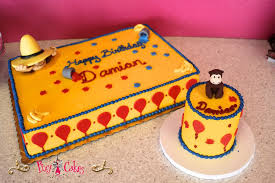 curious george birthday cake birthday cake 1 tier smash cake boy girl curious george yellow