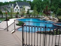 pool steel deck railing u2014 railing stairs and kitchen design