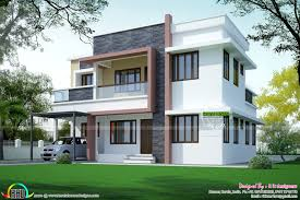 home plan simple home plan in modern style kerala home design and floor