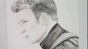 chris evans captain america speed drawing youtube