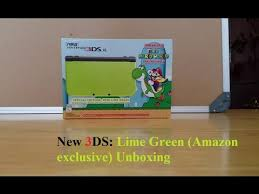 amazon nintendo 3ds xl black friday new 3ds xl lime green unboxing youtube