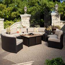 alderbrook faux wood fire table fire pit table propane alderbrook faux wood outdoor seating ideas
