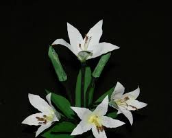 recycled craft white lily flowers made with plastic can youtube