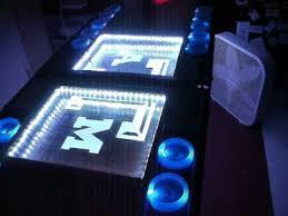 custom beer pong tables texas a m custom led beer pong table youtube