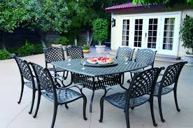 Macys Patio Dining Sets by Darlee Nassau Cast Aluminum 10 Piece Dining Set With Seat Cushions