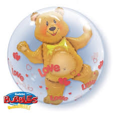 teddy bears inside balloons you balloons delivered s day helium filled balloon