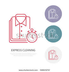 laundry line design express dry cleaning icon laundry line stock photo photo vector