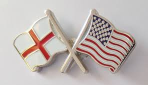 united states of america and england friendship flag pin badge t956
