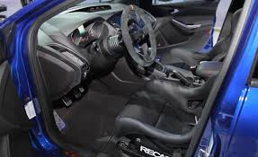 ford focus st aftermarket st charcoal black leather recaro seats interior 2013 ford