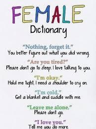 Dictionary Meme - female dictionary