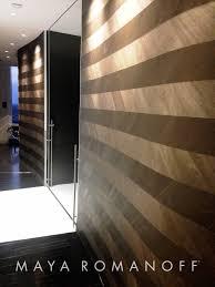 maya romanoff u0027s ajiro chevron is a hand painted wood veneer wall