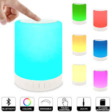 Led Bedside Lamp Amazon Com Night Light Table Lamp Portable Bluetooth Speaker