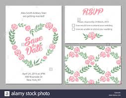 wedding invitation card suite with daisy flower templates and