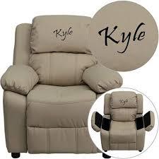 kids recliner sofa personalized deluxe brown kids recliner d bt 7985 kid mic brn